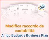 Modifica raccordo da contabilità a rigo Budget e Business Plan