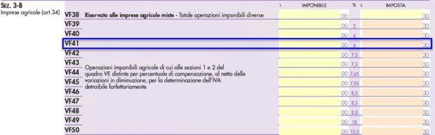 Novità Dichiarazione IVA 2020 - rigo VF41