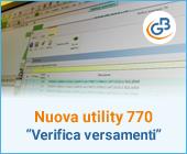 "Nuova utility 770: gestione ""Verifica Versamenti"""