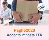 Paghe GB Web 2020: Acconto imposta sostitutiva sulla rivalutazione del TFR