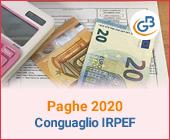 Paghe 2020: Conguaglio Irpef in busta paga