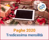 Paghe 2020: Tredicesima Mensilità