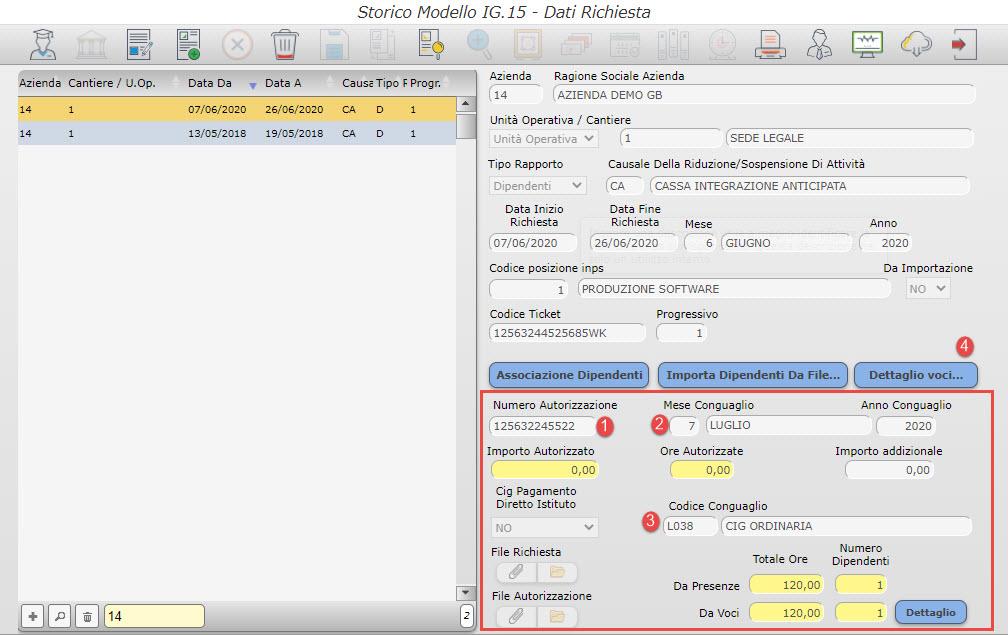 Paghe GB: Caso pratico – Gestione CIG con Ticket - Campo numero autorizzazione
