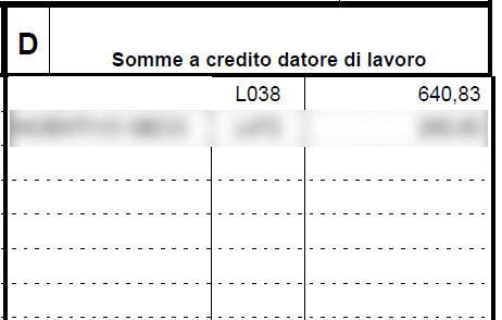 Paghe GB: Caso pratico – Gestione CIG con Ticket - Quadro D somme a credito datore di lavoro