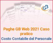 Paghe GB Web 2021 Caso pratico: Costo Contabile del Personale