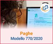 Paghe GB Web e Modello 770/2020