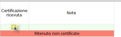 Professionisti: simulazione quadro RE e riepilogo certificazioni - Check su certificazione ricevuta