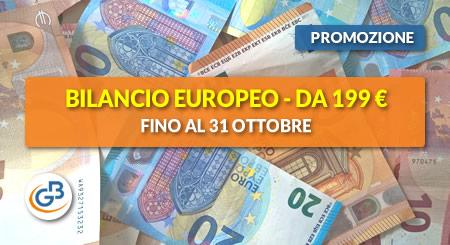 AFFRETTATI! Fino al 31 ottobre Bilancio Europeo GB è tuo da € 199 (anziché 259)
