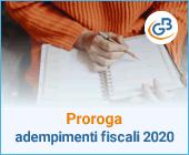 Proroga adempimenti fiscali 2020