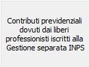 Contributi previdenziali liberi professionisti Gestione Separata INPS