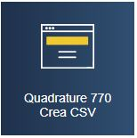 Quadrature 770 - Crea CSV