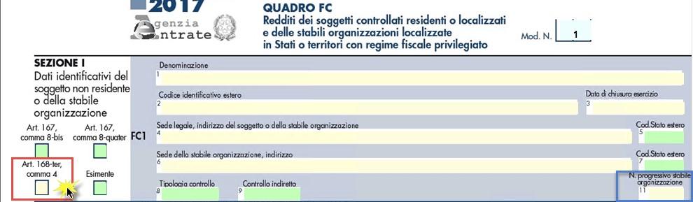Quadro FC Sezione I