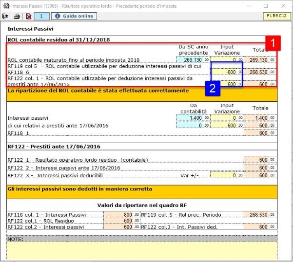 Redditi 2020: deducibilità degli interessi passivi per i soggetti IRES - RFF 118