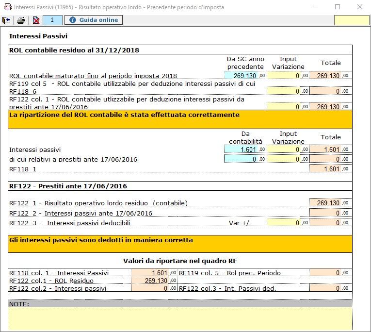 Redditi 2020: deducibilità degli interessi passivi per i soggetti IRES -  Determinazione quota interessi passivi