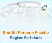 Redditi Persone Fisiche: Regime Forfetario