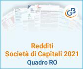 Redditi Società di Capitali 2021: Quadro RO