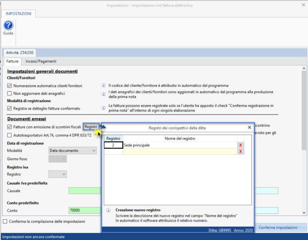 Registrazione fatture elettroniche: novità gestione 2020 - impostazioni importazione xml