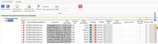 Registrazione fatture elettroniche: novità gestione 2020 - elenco fatture documenti emessi