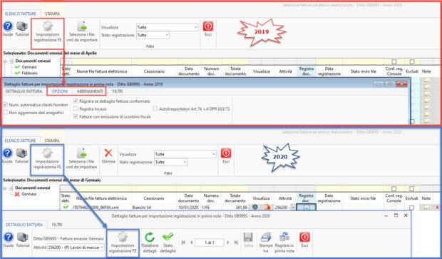 Registrazione fatture elettroniche: novità gestione 2020 - impostazioni registro FE