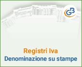 Registri Iva: denominazione su stampe