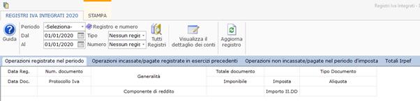 Registri Iva: stampa con liquidazione - Regime semplificato opzione 2 e opzione 3