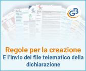 Regole per la creazione e l'invio del file telematico della dichiarazione