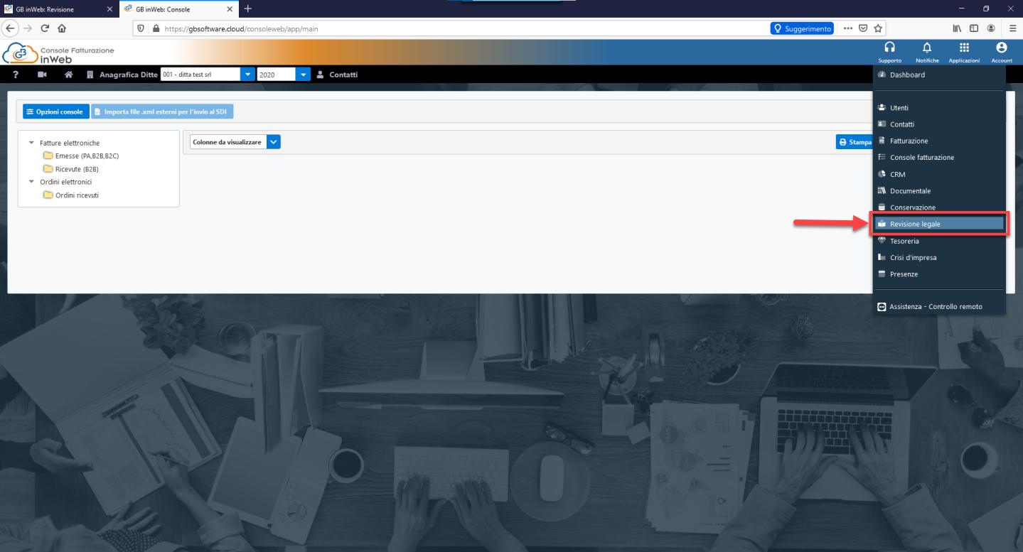 Revisione legale: anticipazioni nuovo modulo web - Piattaforma Web di GB
