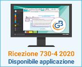 Ricezione 730-4 2020: disponibile applicazione