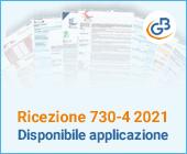 Ricezione 730-4 2021: disponibile applicazione