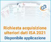 Richiesta acquisizione ulteriori dati ISA 2021: disponibile applicazione