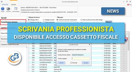 Scrivania del Professionista: disponibile accesso al Cassetto fiscale