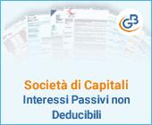 Società di Capitali: Interessi Passivi non Deducibili