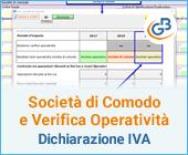 Società di Comodo e Verifica Operatività in Dichiarazione IVA 2020