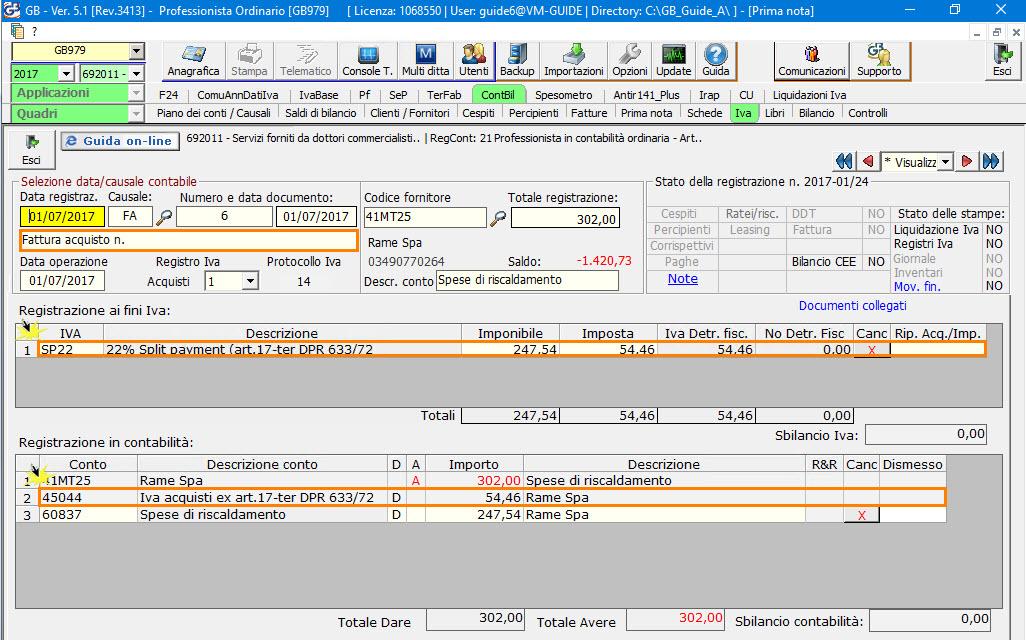 Split Payment - Registrazione Fattura Acquisti
