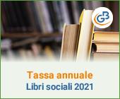 Tassa annuale libri sociali 2021