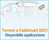 Terreni e Fabbricati 2021: disponibile applicazione