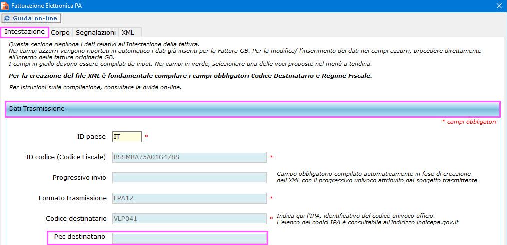 Fatturazione elettronica aggiornamento tracciato for Codice univoco per fatturazione elettronica